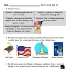 Social Studies: Patriotic Symbols Assessment and Study Guide