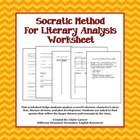 Socratic Method for Literary Analysis Worksheet