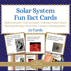 Solar System Fact Cards for Calendar Pocket Charts - Unit