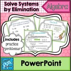 Solve Linear Systems of Equations by Elimination PowerPoint