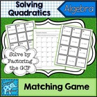 Solve Quadratics Matching Game