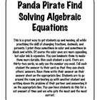 Solving Algebraic Equations Adding and Subtracting Panda P