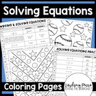 Solving Equations Coloring Worksheets