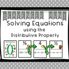 Solving Equations ( Harder Multi-Step Equations) Scavenger Hunt