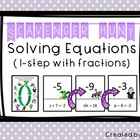 Solving Equations (One Step Equations) Scavenger Hunt