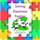 Solving Equations Puzzler