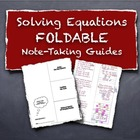 Solving Multi Step Equations Foldable Note Taking Guides S