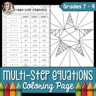 Solving Multiple Step Equations Coloring Page