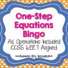 Solving One-Step Equations BINGO CCSS 6.EE.7 Aligned FREEBIE