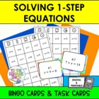 Solving One Step Equations, Bingo and Task Cards, Common C