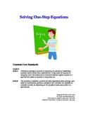 Solving One-Step Equations (Two Lesson Plans)