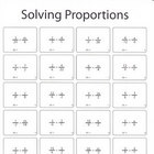 Solving Proportions Worksheet (Black and White)