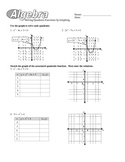 Solving Quadratics (Best Method) Worksheets