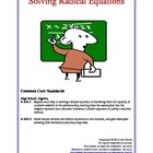 Solving Radical Equations Lesson Plan
