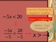 Solving Simple Inequalities (math) Power Point ppt