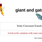 Some Consonant Sounds