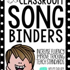 Song Binder Set-Up - A Rockin' Back To School Resource