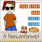Song about being different w/lesson plan, lyrics 1-3. True story!