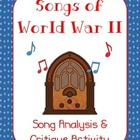 Songs of World War II (Analysis & Writing Critique Activity)