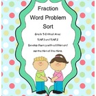Sorting Fraction Word Problems, Both regrouping and withou