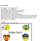 Sorting Smiley Faces Part 2 File Folder Visual Discrimination