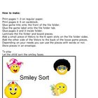 Sortying Smiley Faces File Folder Activity Visual Discrimination
