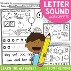 Phonics - Letter Sound Worksheets -  Alphabet