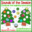 Sounds of the Season {Christmas tree beginning sound sorts}