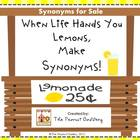"""Sour Synonyms: A """"Lemonade Stand"""" Center/Group Activity"""