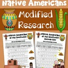 FREE Southwest Native Americans Worksheet Modified for Low