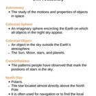 Space Earth and Celestial Objects Unit Vocabulary Lesson Plan
