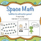 Space Math (addition & subtraction games)