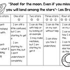 Space theme self-assessment rubric for students