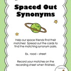 Spaced Out Synonyms!