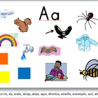 Spanish ABC Sounds PPT and Handwriting Sheets Bundle