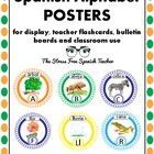 Spanish ABCs, Alphabet POSTERS or large flash cards, word wall
