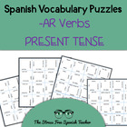 Spanish -AR Verbs, Present Tense Conjugation, Magic Square