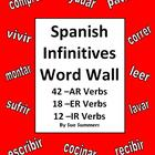 Spanish Verb Wall Signs - 72 AR/ER/IR Infinitive Verbs