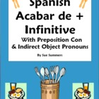 Spanish Acabar De + Infinitive with Preposition Con and IO
