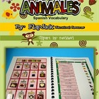 Spanish Animals Vocabulary MagnetMat Fun