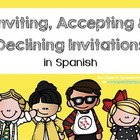 Spanish Bookmarks & Posters for accepting & declining an i