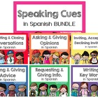 Spanish Speaking Cues for class conversations BUNDLE