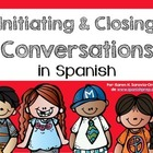 Spanish Bookmarks for initiating and closing a conversation