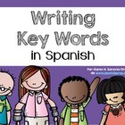 Spanish Bookmarks with Key Words for Writing