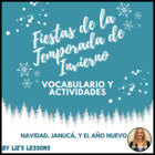 Spanish Christmas, Hanukkah, and New Year  Vocabulary and