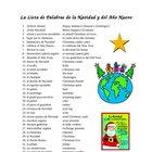 Spanish Christmas Vocabulary Bank (40 words)
