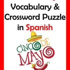 Spanish Cinco de Mayo Vocabulary and Crossword (Key included)