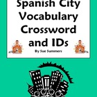 Spanish City Vocabulary Crossword and Image IDs - La Ciudad