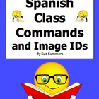 Spanish Class Commands Word Search & Vocabulary - Substitu