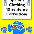 Spanish Clothing Sentence Correction & Picture ID Workshee